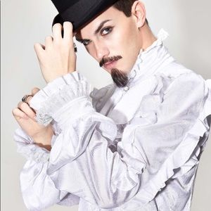 Men's Ruffle Pirate Top Victorian Cosplay Costume